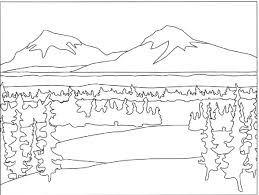Mountain Coloring Page Nice Colorful Pictures Of Nature Free Download Colouring Pages To Print