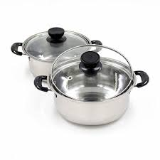 cuisine en cocotte qualité en acier inoxydable soupe pot non bâton batterie de cuisine