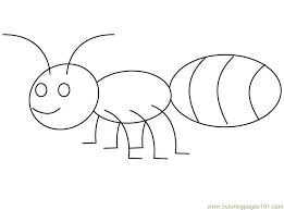 Ant Printable Coloring Pages