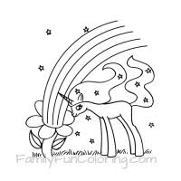 Kids Coloring Pages Unicorn Rainbow Page Hatch Urbanskrip On Pink Fluffy Unicorns Dancing