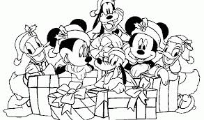 Stunning Coloring Christmas Pages Disney New At Printable