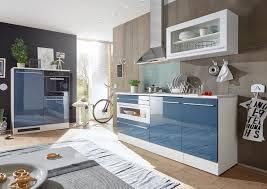 jarklow küchenzeile küchenblock ohne e geräte weiß blau günstig möbel küchen büromöbel kaufen froschkönig24