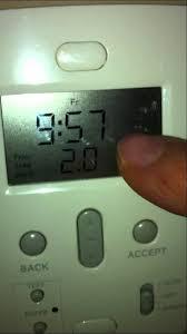 easy heat thwermostat set time youtube