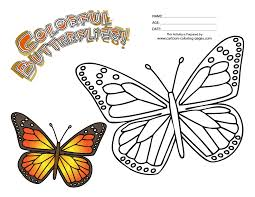 Epic Monarch Butterfly Coloring Page 98 With Additional Free Book