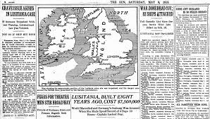 Lusitania Sinks In Real Time by One Hundred Years Ago Today The Lusitania Is Sunk By A German