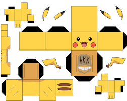 Click To See Printable Version Of Pikachu Paper Toy Craft