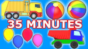100 Trash Truck Video For Kids Binkie Television Compilation Garbage Balls Monster