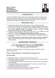 Objective For Engineering Resume Career Suitable Mechanical