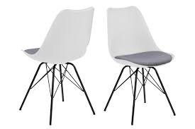 2x erin esszimmerstuhl grau stuhl set esszimmer stühle küchenstuhl küche möbel