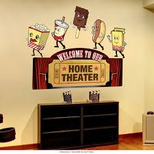 Home Theater Welcome Snacks Wall Decal Set