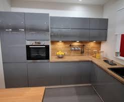 küche küchenzeile eckküche grifflos grau oder weiss glanz soft