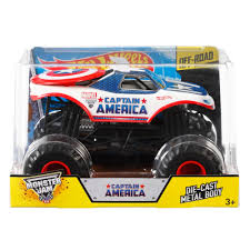 Hot Wheels Monster Jam 1:24 Captain America Die-Cast Vehicle ... Hot Wheels Monster Jam Inferno 124 Diecast Vehicle Shop 25th Anniversary 2017 Mystery Trucks Assortment 2003 11 Blacksmith Truck 1 64 Scale Ebay The Toy Museum Superman Batmobile On Twitter Were In Love With The Allnew For 2018 Einzartig Zombie Epic Additions 10 Hot Wheels Monster Jam Trucks List Lebdcom Wheel 28 Images Amazoncom King Bling 2005 Maple Grove Cemetery C2h Days Gravedigger Iron Man Walmartcom