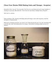 Unclogging A Bathtub Drain With Vinegar by 33 Unclog Shower Drain With Vinegar 10 Homemade Drain Cleaners