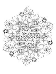 Flower Coloring Page Floral Adult By TheColoringAddict