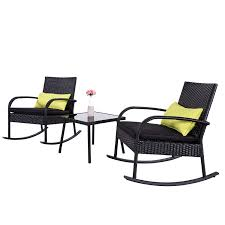 Amazon.com: Cloud Mountain Outdoor 3 Piece Rocking Chair Bistro Set ... Wicker Rocking Chair Grey At Home Windsor Black Rocker And End Table Set With Patio Resin Steel Frame Outdoor Porch Noble House Harmony With White 3pc Cushion Good Looking Glider Big Plans Sw Chairs Lounge Dark Brown Amazoncom Cloud Mountain 3 Piece Bistro Decorating Rockers Gliders Coral Coast Casco Bay