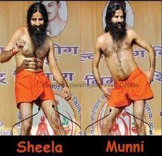 Baba Ramdev Funny Pose While Doing Yoga