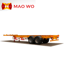Heavy Duty 3 Axle Tractor Truck 20ft 40ft Flatbed Container Trailer ...