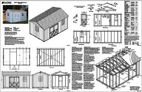 10 X 16 Shed Plans Gambrel by Shed Plans 10 X 16 Construct Your Personal Shed With Wooden