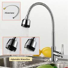 360 deg rotatable kitchen sink faucet single cold water tap
