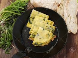 100 Fresh Home And Garden Rocket Omelette With Fresh Home Made Bread And Garden Salad