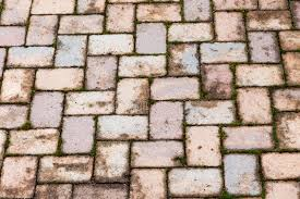 Download Rustic Patterned Red Brick Patio Background Stock Image