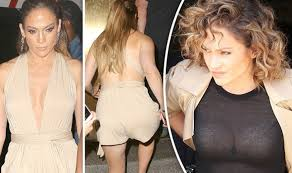 Jennifer Lopez flashes major cleavage in plunging playsuit after