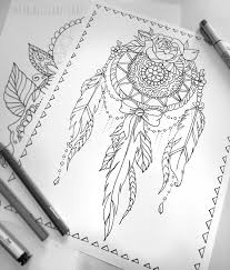 Lace Dream Catcher Coloring Page