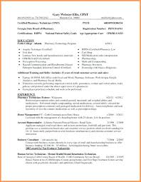 Resume Samples For Retail Pharmacist With Sample Hospital Certification On