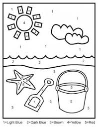 Color By Number Worksheets For Kindergarten Free Easy Printables Kids