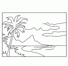 Free Coloring Book Beach Scene Page New In Design Kids Important Segment Of 10 Picture