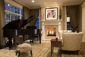 piano rooms decorating ideas living room traditional with neutral