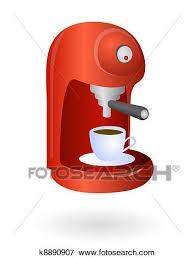 Clip Art Of Espresso Coffee Machine K8890907