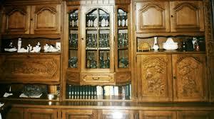 sehr schöner teurer wohnzimmerschrank eiche rustikal