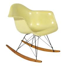 Eames Lemon Yellow Zenith Rope-Edge, RAR Rocker By Herman Miller Black 2014 Herman Miller Eames Rar Rocking Arm Chairs In Very Good Cdition White Rocking Chair Charles Ray Eames And For Vintage Brown By C Frank Landau For Sale Rope Edge Chair 1950s Midcentury Modern Rar A Pair 1948 Retro Obsessions