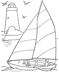 Free Printable Coloring Image 001 Sail Boat Pages