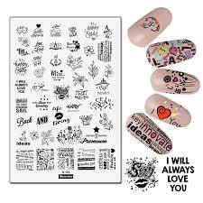 Floral Diario De Arte De Uñas De Placas Herramientas Plantillas Sello Placa Amor Flor Cartas Imagen Gran Manicura De Uñas Suministros DIY