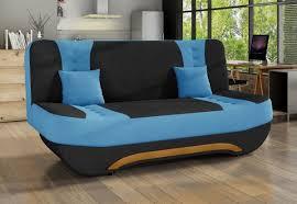 2 sitzer klick klack sofa ewa ll bettkasten schlaffunktion schwarz hellblau