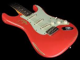 Fender Custom Shop NoNeck 60 Strat Heavy Relic Electric Guitar Fiesta Red