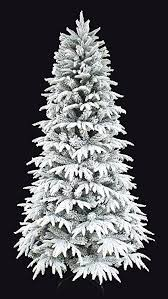 HOLIDAY STUFF 7 Christmas Tree Snowy Forest Spruce The Real Feel PE Flocked Narrow