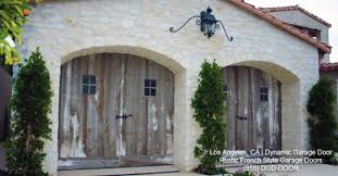 Rustic French Style Garage Doors