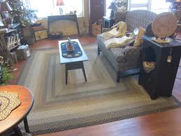 decorating wonderful and colorful room size wool braided rugs for