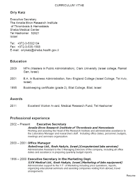Secretary Resume Example Church Examples Unit Legal Summary