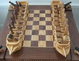 Chess War Of 1812 Wooden Board GamesGame