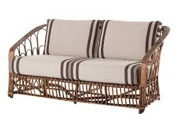 Braxton Culler Sofa Bed by Vintage Wicker Loveseat At 1stdibs