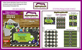 Video Gamer Birthday Game Truck Party Invitation And/or Party ... Video Game Party Invitations Gangcraftnet Invitation On K1069 The Polka Dot Press Monster Truck Birthday Ideas All Wording For Save Gamers Fun Birthdays Planning A 13yr Old Boys Todays Pitfire Pizza Make One Amazing Discount Unique Dump Festooning And Printable Orderecigsjuiceinfo Star Wars Signs New Designs Invitations Fancy Football