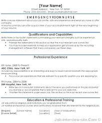 Emergency Room Nurse Resume New Er Sample Resumes