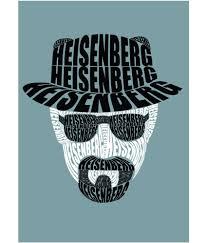 Posterskart Heisenberg Breaking Bad Typography Poster