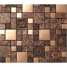 stainless steel tile sheets kitchen backsplash brass glass mosaic
