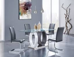 D1628 Dining Room Set W Two Tone Chairs