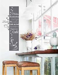 wandtattoo küche esszimmer kaffee banner